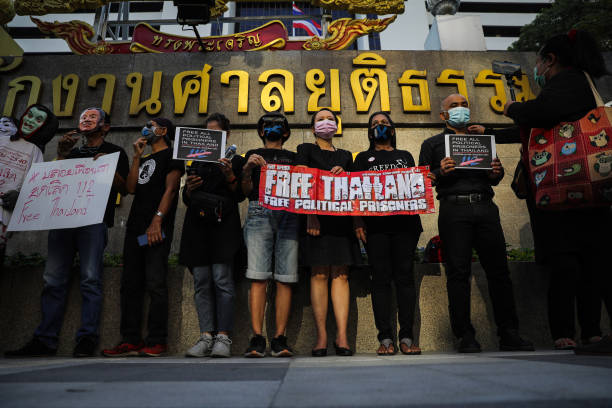 THA: Pro-democracy Protesters Gather Outside Criminal Court