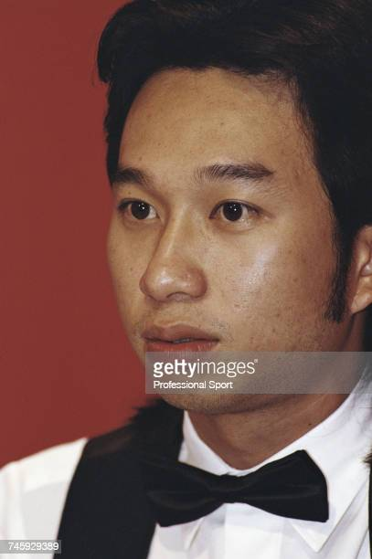 Thai professional snooker player James Wattana pictured during competition in the 1993 Embassy World Snooker Championship at the Crucible Theatre in...