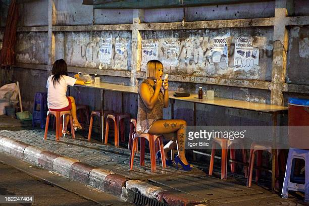 CONTENT] Thai prostitutes getting ready on the side of the road Nana Plaza red light district in Bangkok Nana Plaza is a 3 storey redlight district...