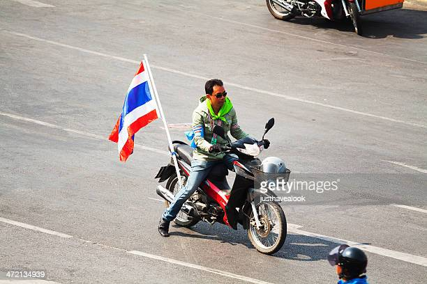 thai demonstrant - demonstrant stock pictures, royalty-free photos & images