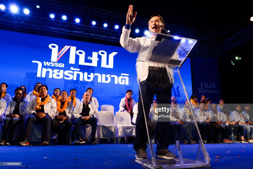 Thai Raksa Chart Party Campaign Election In Bangkok : News Photo