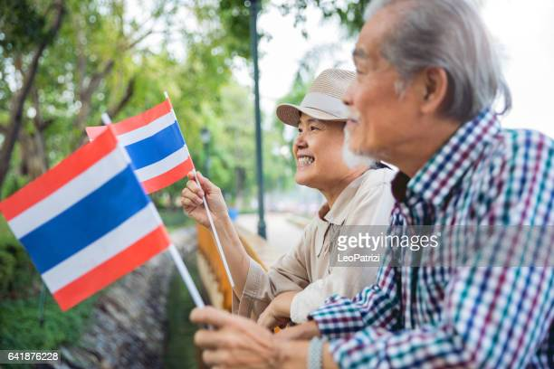 Thai senior couple during celebrations