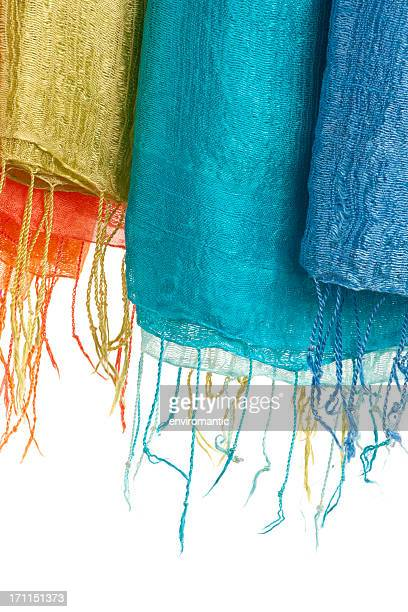 thai silk scarves - tassel stock pictures, royalty-free photos & images