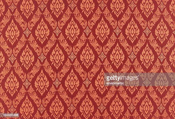 thai silk traditional motif background. - thai culture stock pictures, royalty-free photos & images