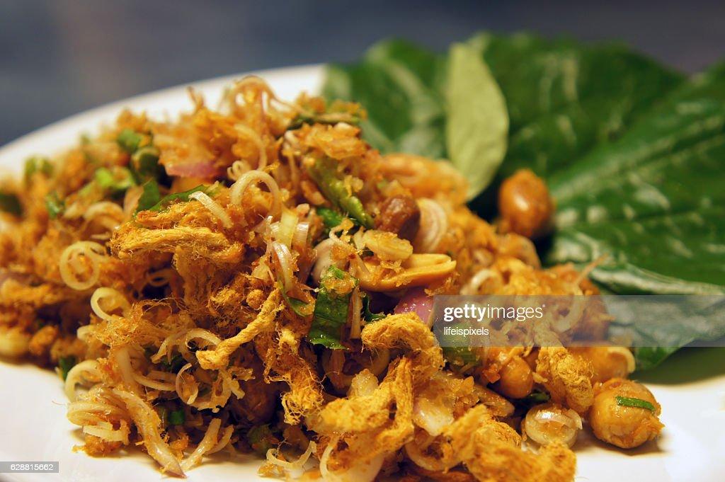 Thai Spicy Herbal Salad : Stock Photo