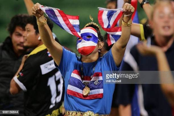 Thai supporters during the International Friendly Match between the Australian Matildas and Thailand at NIB Stadium on March 26 2018 in Perth...