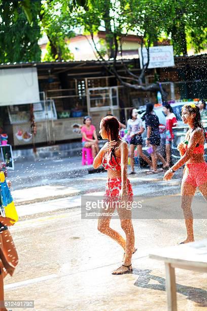 Thai teenagers at Songkran