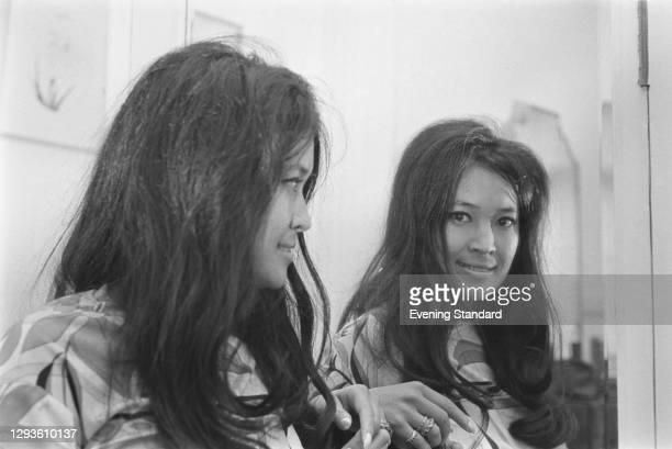 Thai-born French novelist Marayat Rollet-Andriane, who writes under the pen name Emmanuelle Arsan, UK, 14th April 1967. She wrote the erotic novel...