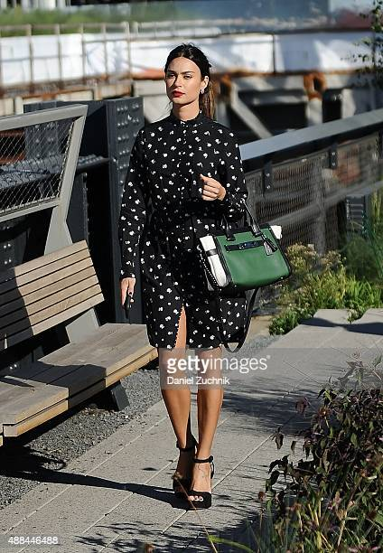 Thaila Ayala is seen outside the Coach show wearing a Couch outfit during New York Fashion Week 2016 on September 15 2015 in New York City
