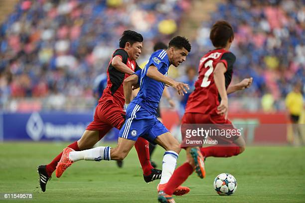 Thailand All Stars' Yuthajak Konjan and Chelsea's Dominic Solanke