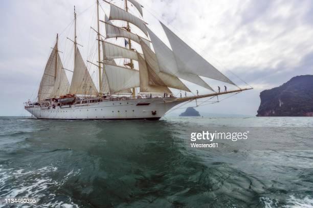 thailand, andaman sea, sailing ship - 帆船 ストックフォトと画像