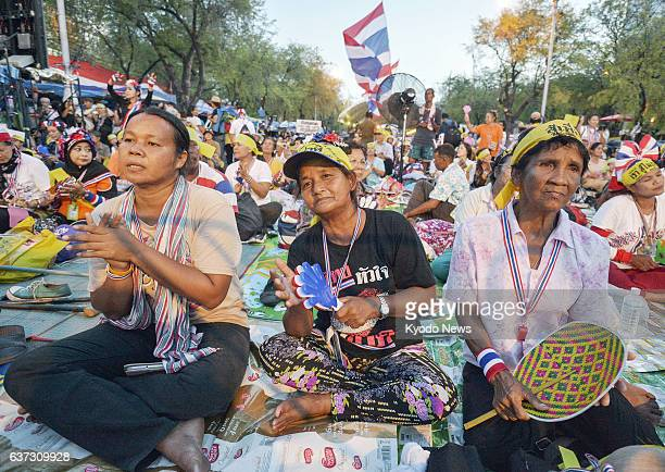 BANGKOK Thailand Antigovernment protesters continue a rally in front of the Thai prime minister's office in Bangkok on May 22 after Thailand's...
