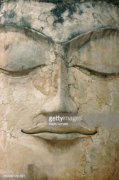 Thailand, Ayutthaya, Face of Buddha, close-up