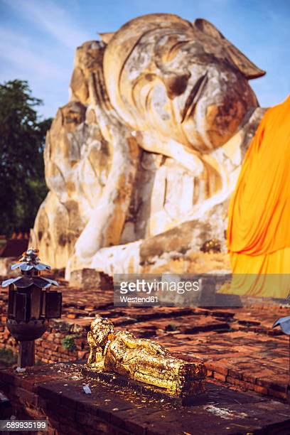 Thailand, Ayutthaya, Reclining Buddha of Wat Lokaya Sutha