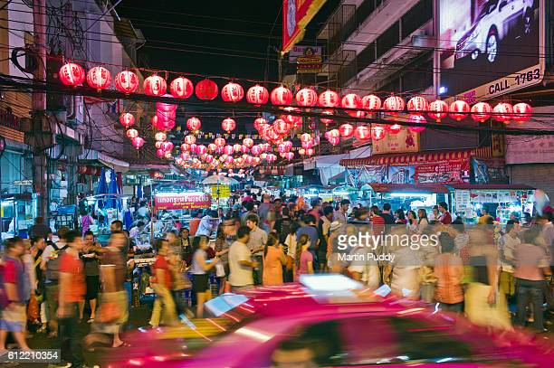 thailand, bangkok, chinatown during chinese new year - south east asia stock pictures, royalty-free photos & images