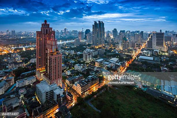 Thailand, Bangkok, City at night
