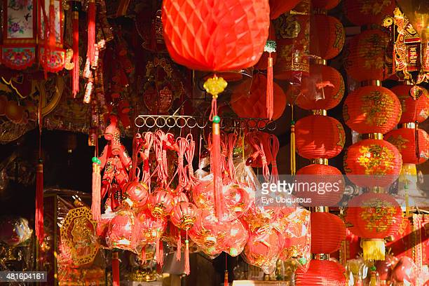Thailand Bangkok Red Lanterns and Decorations for Chinese New Year