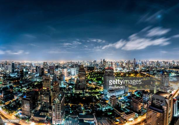 Thailand, Bangkok, skyline at night
