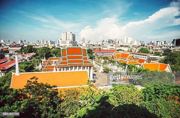 Thailand, Bangkok, View from Wat Saket temple