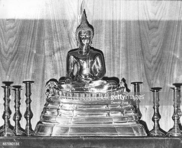 Thailand Buddha in Academy Chapel The 24K gold Buddha at the Air Force Academy Chapel is encased in glass and was a gift of the former air marshal of...
