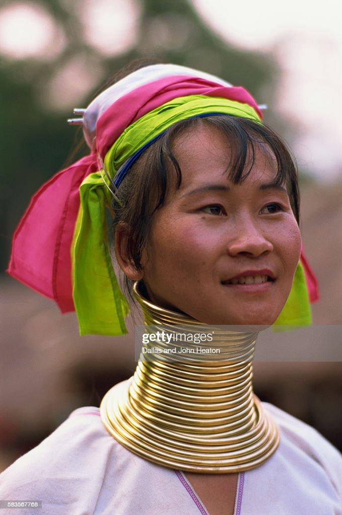 Thailand, Chiang Rai, Long Neck Hilltribe, Woman : Stock Photo