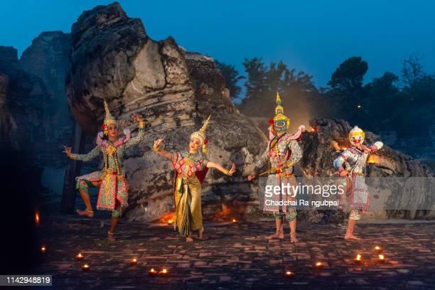 thailand dancing asia thai culture art tradition beauty. - linda rama imagens e fotografias de stock