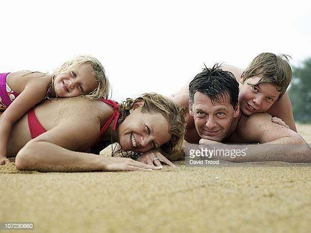 Thailand, family on the beach.