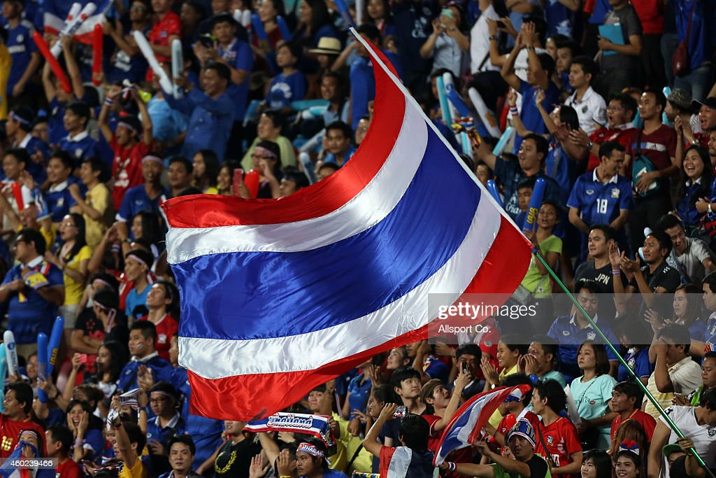 Thailand fans cheer during the 2014 AFF Suzuki Cup semi final 2nd