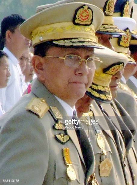Thailand - File photo taken in March 2010 shows Thein Sein, who was elected as Myanmar's president on Feb. 4, 2011.
