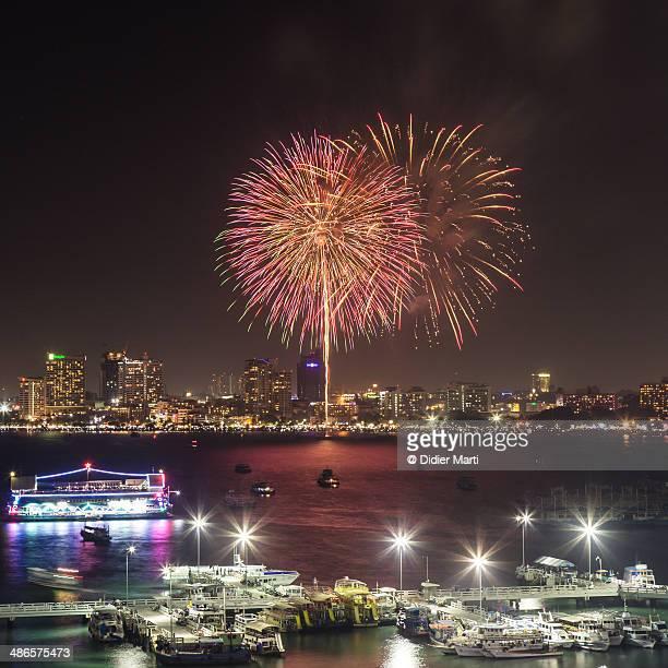 thailand fireworks - didier marti stock-fotos und bilder