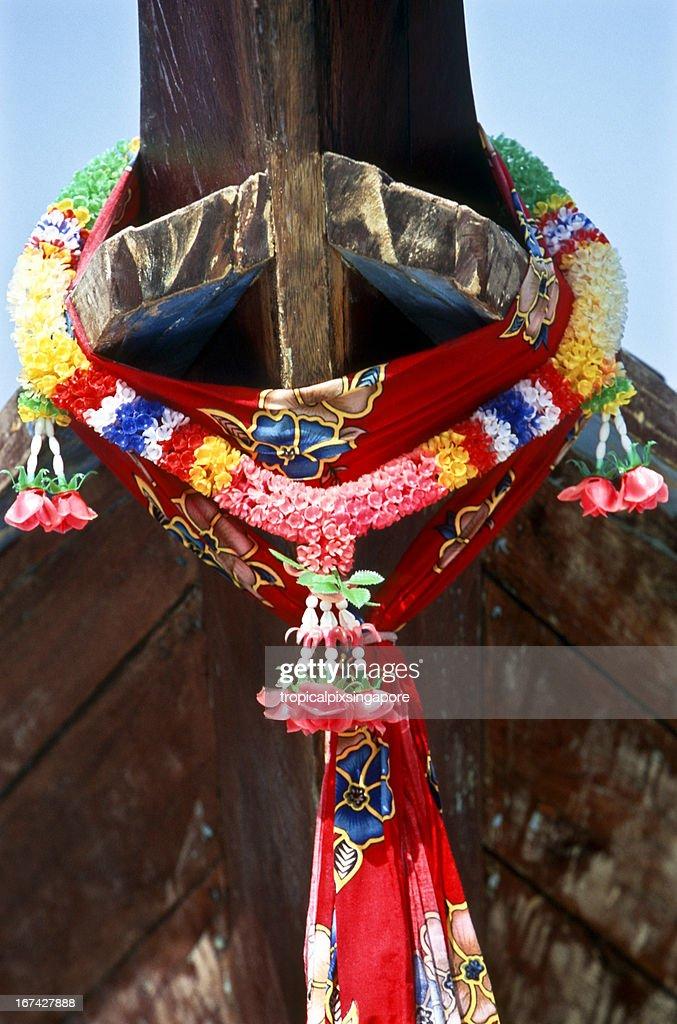 Thailand, Provinz Krabi, Ko PhiPhi, Asiatisches Langboot. : Stock-Foto