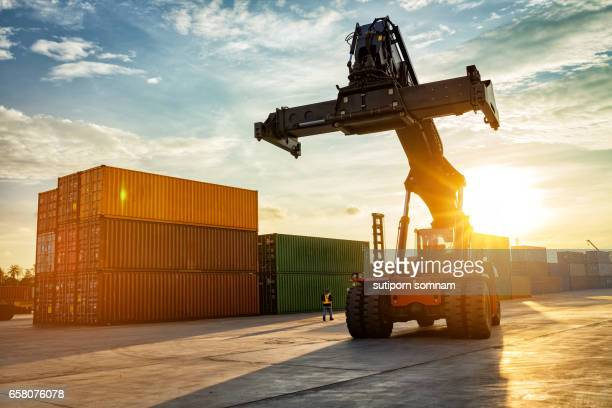 Thailand Laem Chabang Chonburi Industrial logistic forklift truck containers