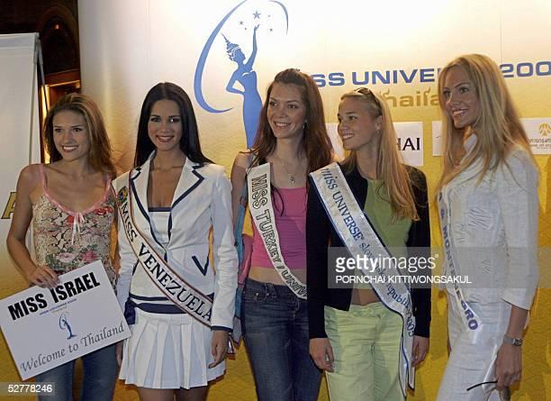 Miss Universe 2005 contestants Miss Israel, Elena Ralph, Miss Venezeula, Monica Spear, Miss Turkey, Dilek Aksoy, Miss Slovak, Michael Drenckova, Miss...
