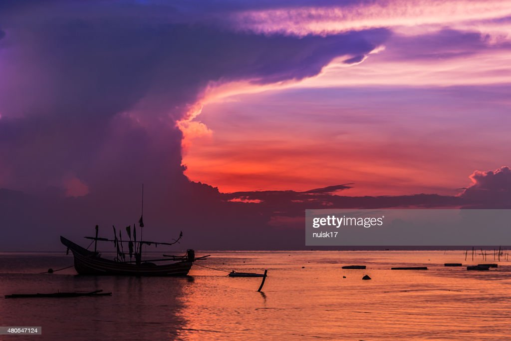 Thailand Muslim fishing boats of the fishermen. : Stock Photo