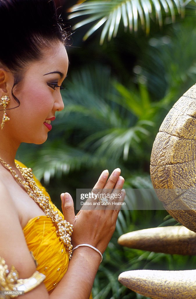 Thailand, Pattaya, Thai Dancer, Woman : Stock Photo