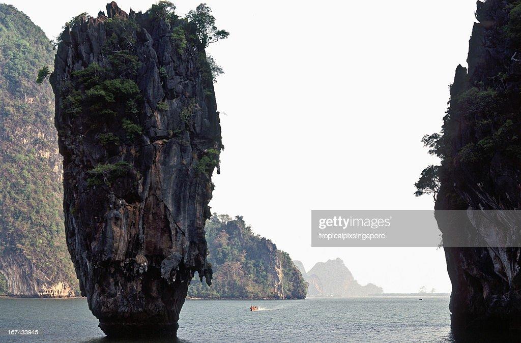 Thailand, Phang Nga Province, Ko Tapu, 'James Bond Island'. : Stock Photo