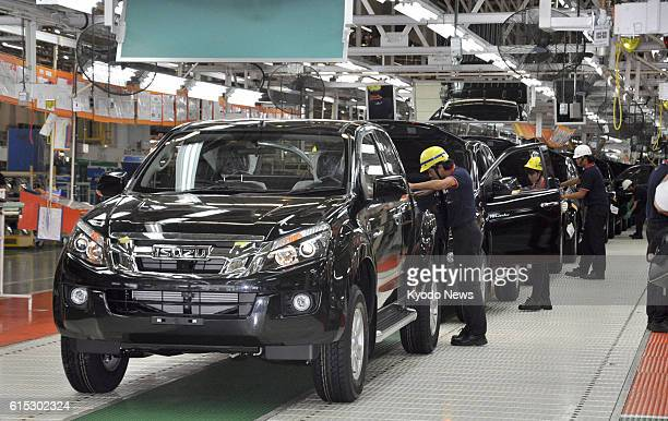 CHACHOENGSAO Thailand Photo taken Oct 29 shows a new plant opened the same day by Japan's Isuzu Motors Ltd in the Gateway Industrial Estate in...