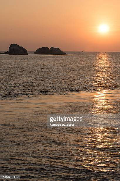 Thailand, Similan Islands, Orange Sunrise