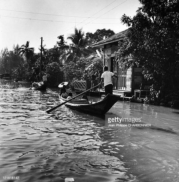 Thailand Suburbs Of Bangkok And The River Menam In The 1950'S