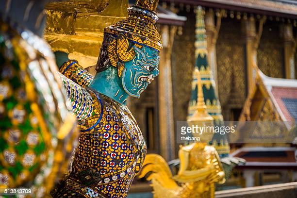 Thailand, Temple Guardian at Wat Phra Kaeo Bangkok
