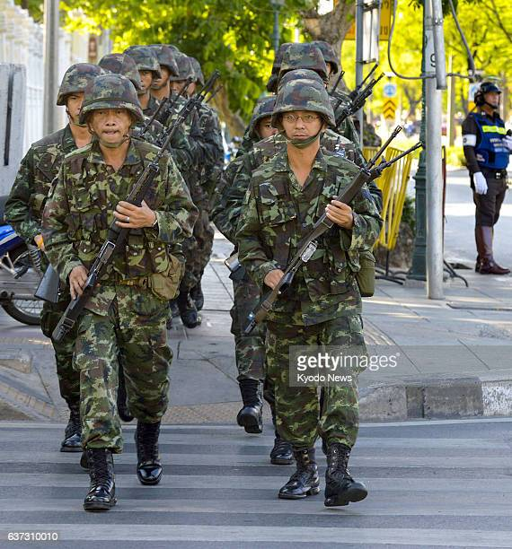 BANGKOK Thailand Thai soldiers patrol Bangkok on May 23 a day after the military staged a coup ousting the caretaker government scrapping the...