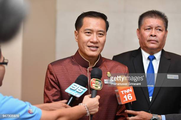Thailand Tourism And Sports Minister Weerasak Kowsurat is interviewed after attending the United Through Sport Sports Festival on day three of the...