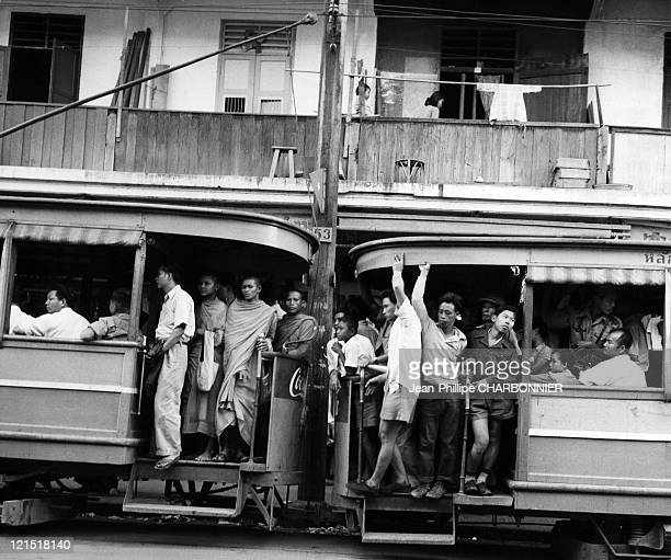 Thailand Tramways In Bangkok In The 1950'S