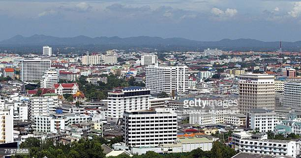 WITH ThailandcouptourismPattayasched This general view shows the Thai holiday resort town of Pattaya some 150 kms east of the Thai capital Bangkok 22...
