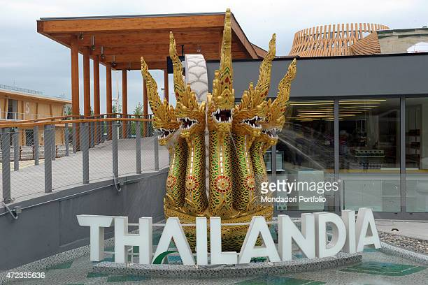 Thailandia 21st Century Italy Lombardy Milan Expo 2015 Detail exterior A pavilion built for Expo Milano 2015 Feeding the Planet Energy for Life The...