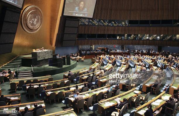 Thailand's ambassador to the U.N. Khunying Laxanachantorn Laohaphan delivers an address at the 61st session of the United Nations General Assembly at...