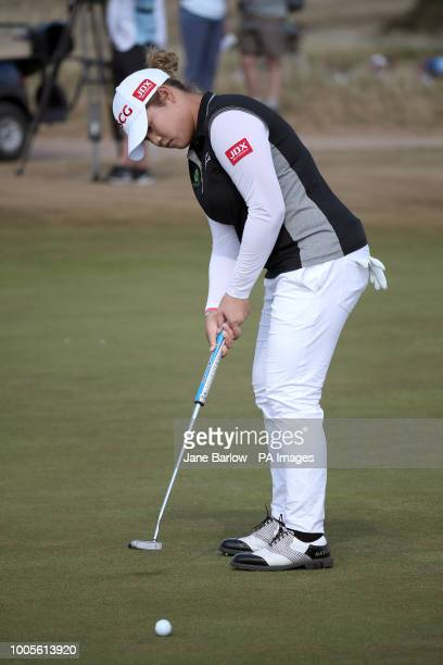 Thailand's Ariya Jutanugarn on the 14th green during day one of the 2018 Aberdeen Standard Investments Ladies Scottish Open at Gullane Golf Club...