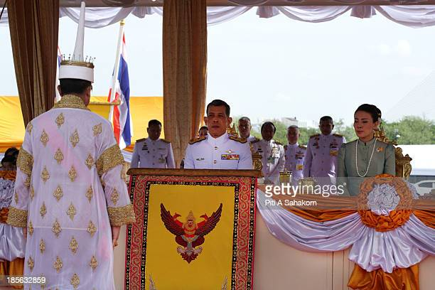 Thailand's Crown Prince Maha Vajiralongkorn and Princess Srirasmi attend the annual Royal Ploughing Ceremony to mark the traditional beginning of the...