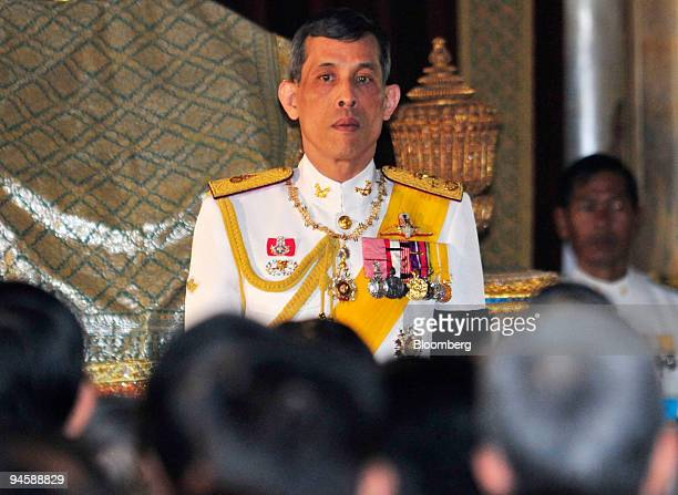 Thailand's Crown Prince Maha Vajiralongkorn presides over the first official session of the Thai National Assembly at the Ananta Samakhom Throne Hall...
