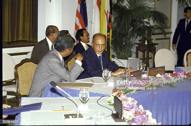 Thailand's Foreign Minister Siddhi Savetsila chairing a meeting of the Association of Southeast Asian Nations regarding Vietnam & Cambodia.